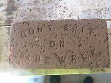 Don't Spit on the Sidewalk Brick - Americana