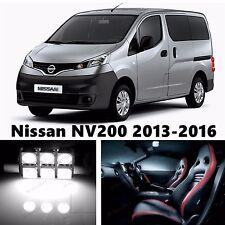 8pcs LED Xenon White Light Interior Package Kit for Nissan NV200 2013-2016