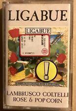 LIGABUE • Lambrusco Coltelli Rose & Pop Corn • Cassetta MC
