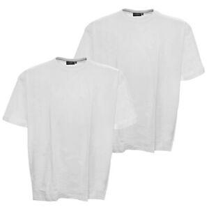 Kitaro T Shirt Doppelpack Weiß Baumwolle Rundhals Kurzarm Plusgröße 7XL
