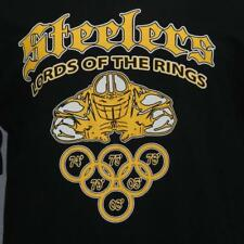Pittsburgh Steelers Lords of the Rings Black Nfl Football T-shirt L