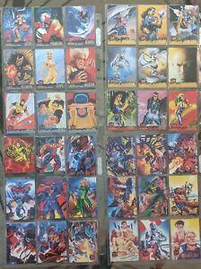 1994 Fleer Ultra Marvel X-Men Cards almost COMPLETE BASE SET, #1-150 (no 55)