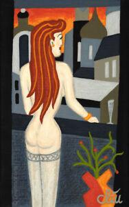 JACQUELINE DITT - Sunset  A4 - DRUCK n.Gemälde nude Akt Frau Bild Giclee