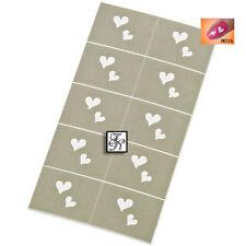 Nailart Schablone Nr.016 / Nagel Stempel Nailstamping Herz für Farbgel Nagellack