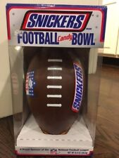 SNICKERS NFL Football Shaped Snack Candy Bowl Dish in ORIGINAL BOX