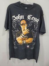 Vintage WWE John Cena  Big Graphic Wrestling Rap T shirt Mens L WWF