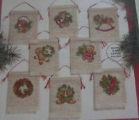 JanLynn 8 Gingerbread Ornaments Christmas Cross Stitch Kit SEALED 125-139