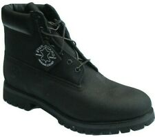 """Mens Timberland 6 Inch 6"""" Boots Black Leather Lace Up Shoes Boots Size UK 12.5 M"""