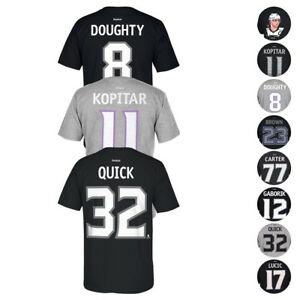 Los Angeles Kings NHL Reebok Player Name & Number Premier Jersey T-Shirt Men's