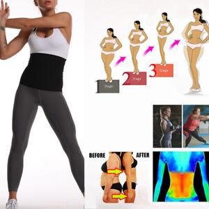 Unisex Sauna Trainer Wrap Belt Sweat Stomach Shaper Waist Trimmer  Elastic Soft