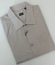 Paul Smith Shirt Size 16.5 EXTRA LARGE Brown Stripes SLIM FIT