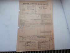 Chemin Fer de l' EST Gare VRIGNE-aux-Bois GILLET ROQUIGNY fonderie ARDENNES 1924