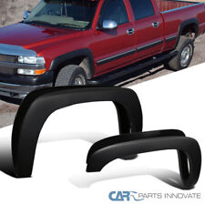 For 99-07 Chevy Silverado 99-06 GMC Sierra Matte Black Fender Flares Wheel Cover