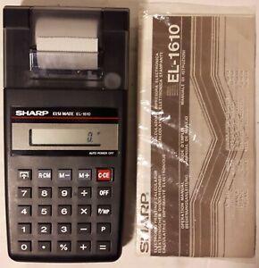 Sharp ElsiMate EL-1610 Printing Calculator w/Manual & Partial Paper Roll - NR.MT