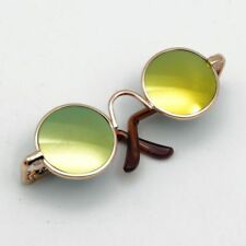 Golden Round Sunglasses glasses For 1/4 17in MSD AOD LUTS DK DZ  BJD Doll