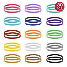 15 Colors Puppy Whelping Id Collars Double Sided Soft Adjustable Id Bands 30 Pcs