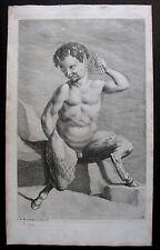 JOHANN DANIEL HERZ , 1684–1744 . KUPFERSTICH um 1720 . FAUN .