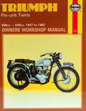 Haynes Workshop Manual Triumph Twins Thunderbird Trophy Bonneville 1947-1962