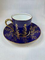 Aynsley Cup & Saucer Cobalt & Gold vintage Rare Pattern 1730 - A656