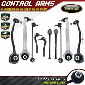 10x Front Control Arm Sway Bar Tie Rod Kits for Mercedes Benz W203 A209 CL203