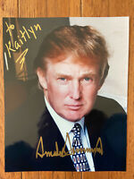 President Donald Trump 8 X10 Signed 100% Authentic Letter Of Authenticity COA Ex
