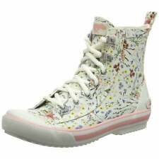 Rocket Dog Rainy Swag Women's Rubber Hi-Top Lace Up Boots Wellies Festival New