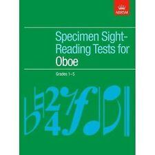 ABRSM Specimen Sight-reading Tests for Oboe Grades 1-5 Ab8385