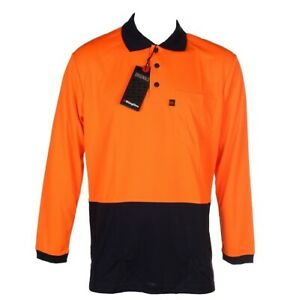 Long Sleeve Work Shirt 3XL Hi-Vis Workwear Safety KingGee Polo
