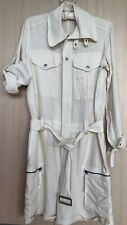 RALPH LAUREN LINEN/SILK WOMEN OVERALLS,  SHORTS SIZE 4 IVORY COLOR WORN ONES