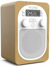Pure Evoke H2 PORTABLE DAB+ NUMÉRIQUE RADIO FM chêne