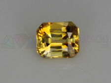 Ceylon Yellow Sapphire VS Octagon Loose Natural Gemstone 5x4.5mm 0.64ct - 0.78ct