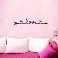 Love Arrow Wall Art Stickers Romantic Home Bedroom Decor Decals n