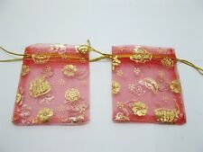95 Red Drawstring Gift Jewelry Pouches 10x8cm