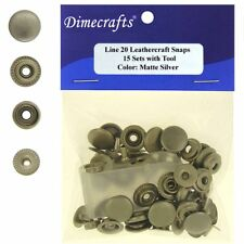 Leathercraft 7/16 Inch Line 20 Snap fastener kit CT.15 w/Tools - Matte Silver