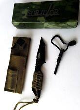 BELT/ BOOT KNIFE SURVIVOR CONCEALED SELF DEFENSE WITH FIRE STARTER