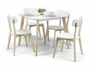 Casa Dining Set in White and Limed Oak Finish Listed Individually
