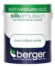 BERGER soie émulsion Pure Blanc brillant-murs & plafonds peinture 3L