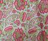 Indian Hand Block Print Natural Printed Cotton Fabric Handmade Sanganeri Vintage