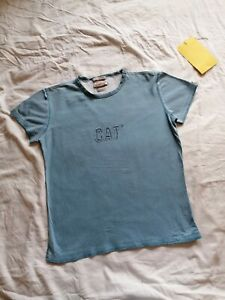 Ladies Blue T-shirt Size L Caterpillar