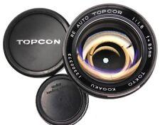 Topcon RE Black Auto 85mm f1.8  #13300373 .............. Extremely Rare !!!