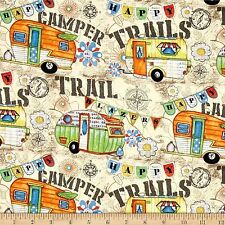 Camptown, Caravans 100% Cotton Fabric by Springs  FQ 50cm x 55cm