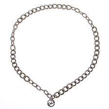 NWT $300 DOLCE & GABBANA D&G Silver Metal Logo Necklace Chain Halsband Collana