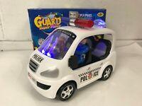 POLICE CAR BUMP & GO CAR POLICE LIGHTS & SIREN WITH POLICE MAN GUARD DOG TOYS