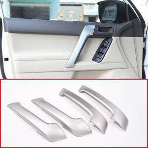 For Toyota Land Cruiser Prado FJ150 150 2010-18 Matte Silver Door Handle Trim