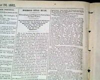 MORMONS Mormonism Latter Day Saints Rule Salt Lake City UTAH 1883 Old Newspaper