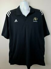 Official Adidas University of Colorado Buffaloes Basketball Black Polo XL