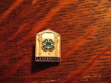 4H Leadership Lapel Pin - Vintage Readers Digest Youth Organization Clover Badge