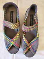 Steven by Steve Madden Brynn Womens Shoes 9.5 Slip On Peep Toe Mary Jane Rainbow