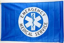 3' x 5' Nylon Emergency Medical Services Flag (Ems) New