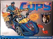 COPS N CROOKS TV cartoon HIGHWAY INTERCEPTOR & ROADBLOCK action figure.